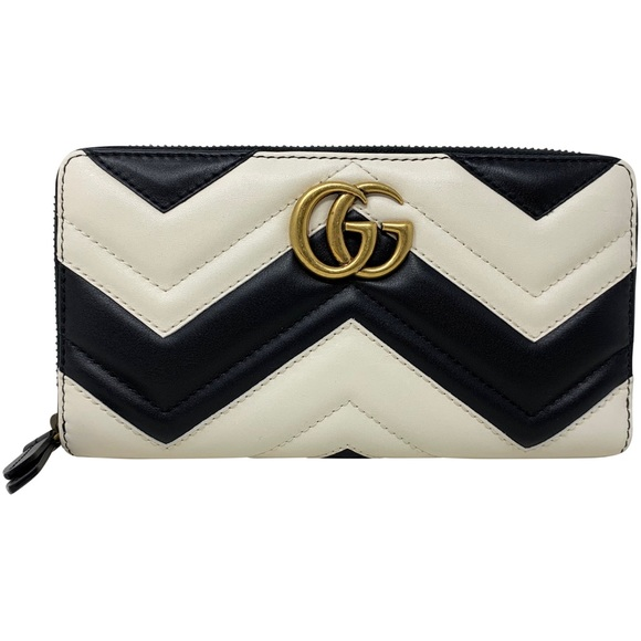 Gucci Handbags - Gucci Leather GG Marmont Wallet Card Case Clutch